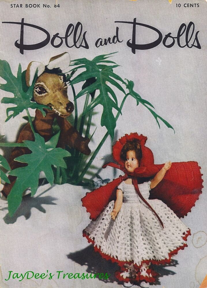 Knitting Pattern For Little Red Riding Hood Doll : Vintage Crochet Doll Pattern Book Alice Red Riding Hood eBay