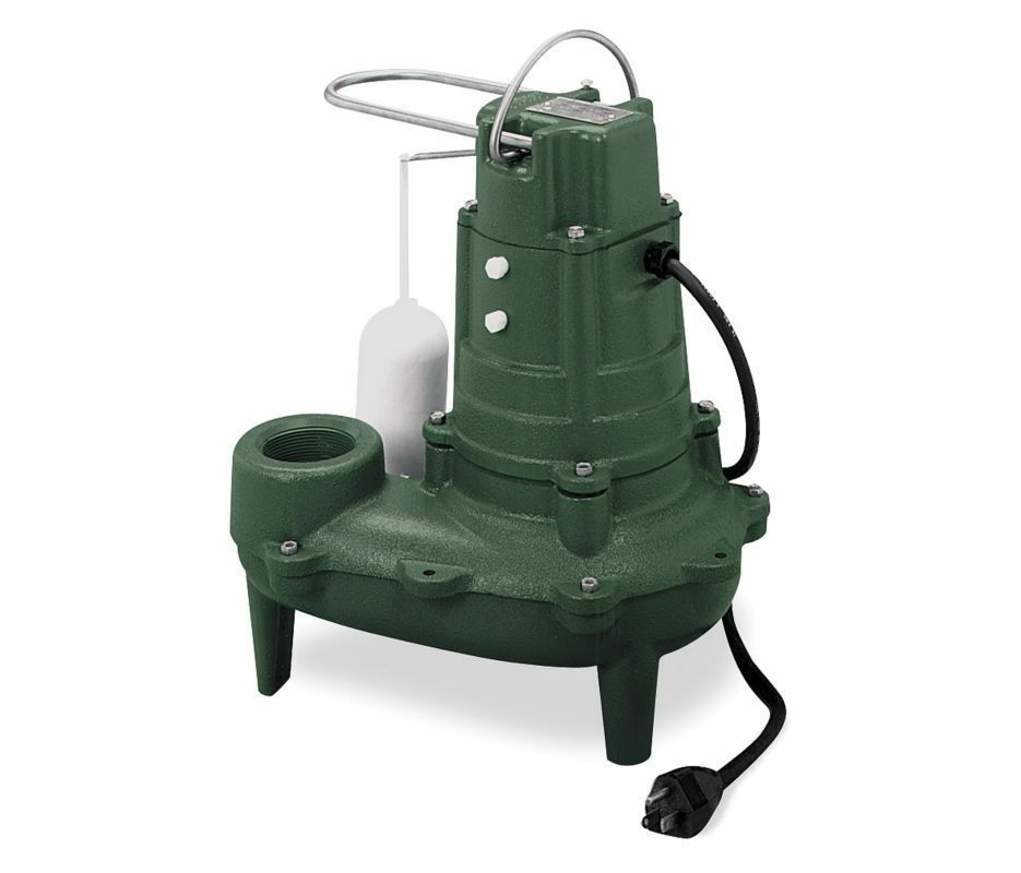 Zoeller Sewage Pump 1 2 Hp 115 Volts Model M267 Ebay