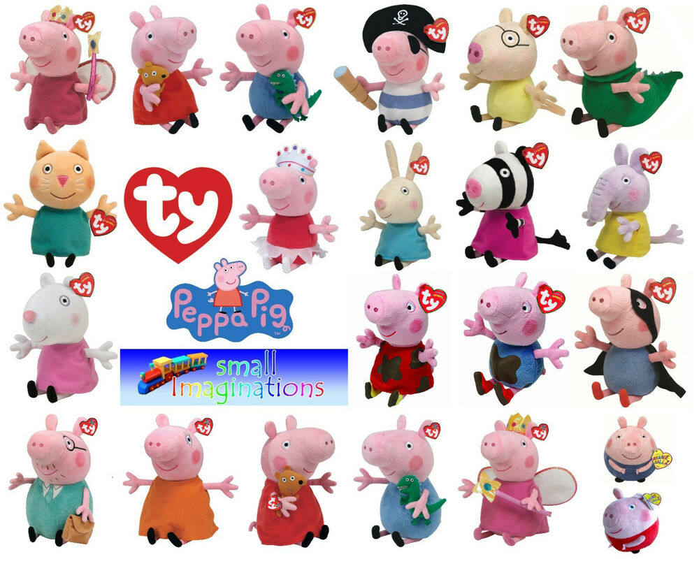 Toys And Friends : Ty peppa pig and friends beanies buddies soft plush