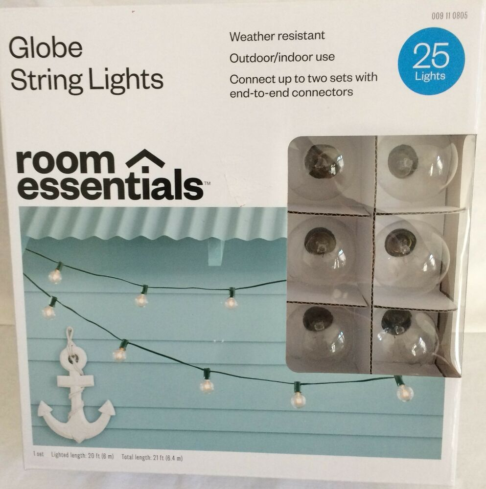 25 CLEAR G40 GLOBE RV INDOOR/OUTDOOR WEDDING PATIO PARTY STRING LIGHTS 21 eBay
