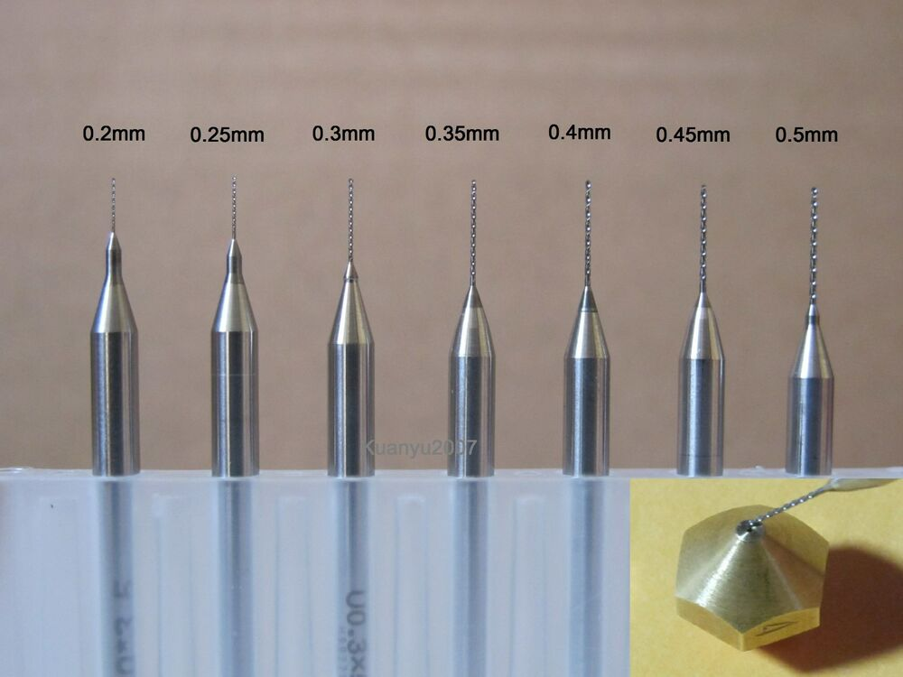 to sizes drill bits for 3d printer nozzle. Black Bedroom Furniture Sets. Home Design Ideas