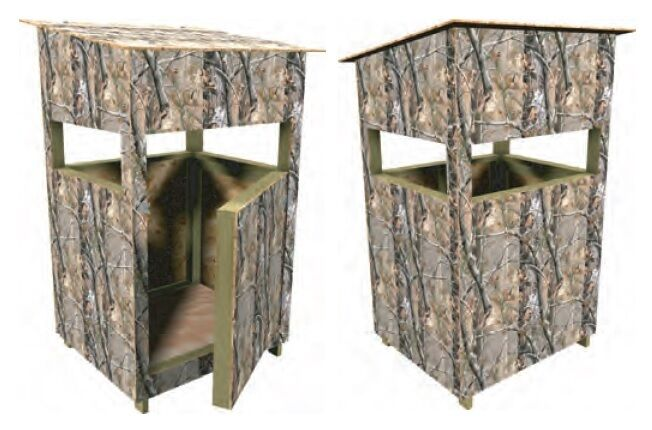 Deer Stand Box Blind Plans Hunting Build Your Own Under