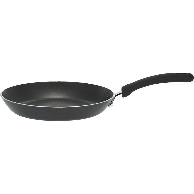 signature non stick 12 5 frying pan black aluminum thermospot stove saute pan ebay. Black Bedroom Furniture Sets. Home Design Ideas