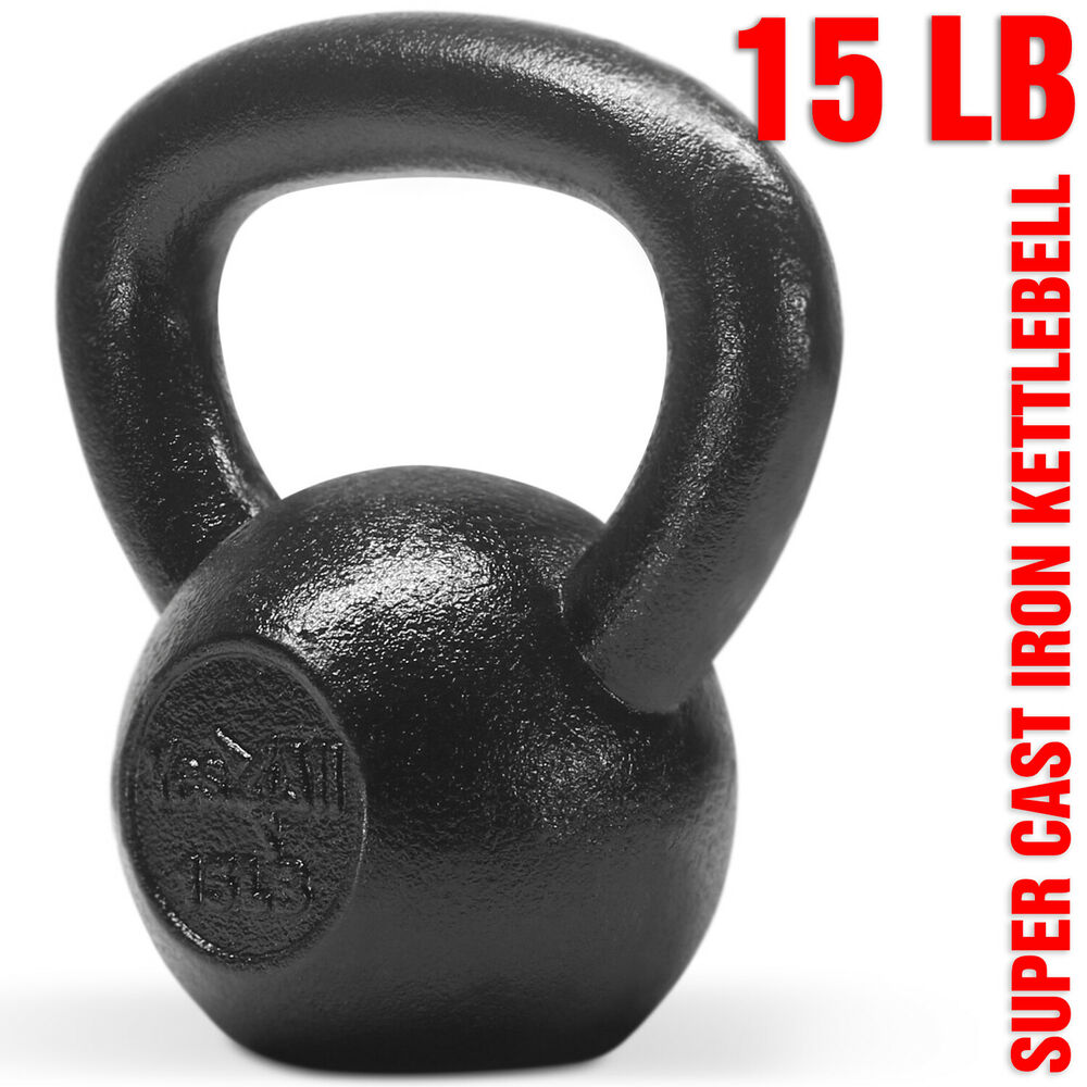 Yes4All 15 lb Kettlebell Weights for Body Workout - Cast ...