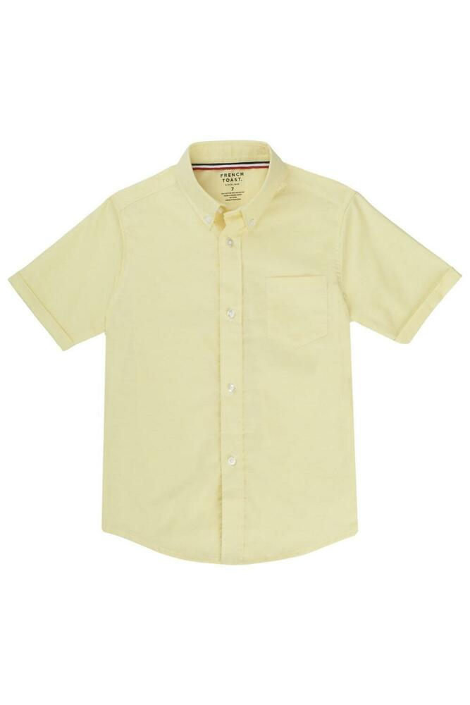 Boys girls yellow oxford shirt french toast short sleeve for French cut shirt sleeve