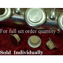 Plug for open hole flute keys, sterling silver and cork