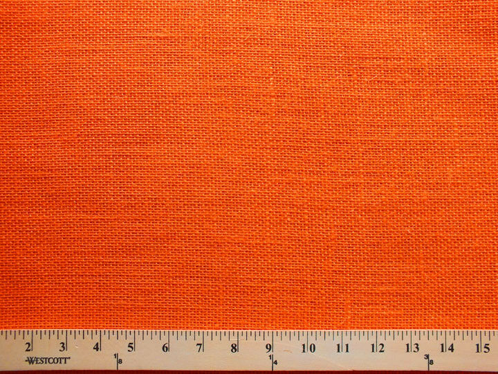 Shalimar burlap orange 48 jute burlap fabric print d770 for What is burlap material