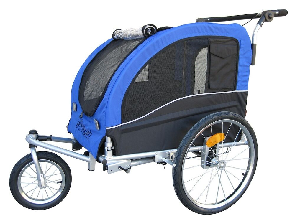 booyah 39 s large pet bike trailer and jogger stroller with. Black Bedroom Furniture Sets. Home Design Ideas