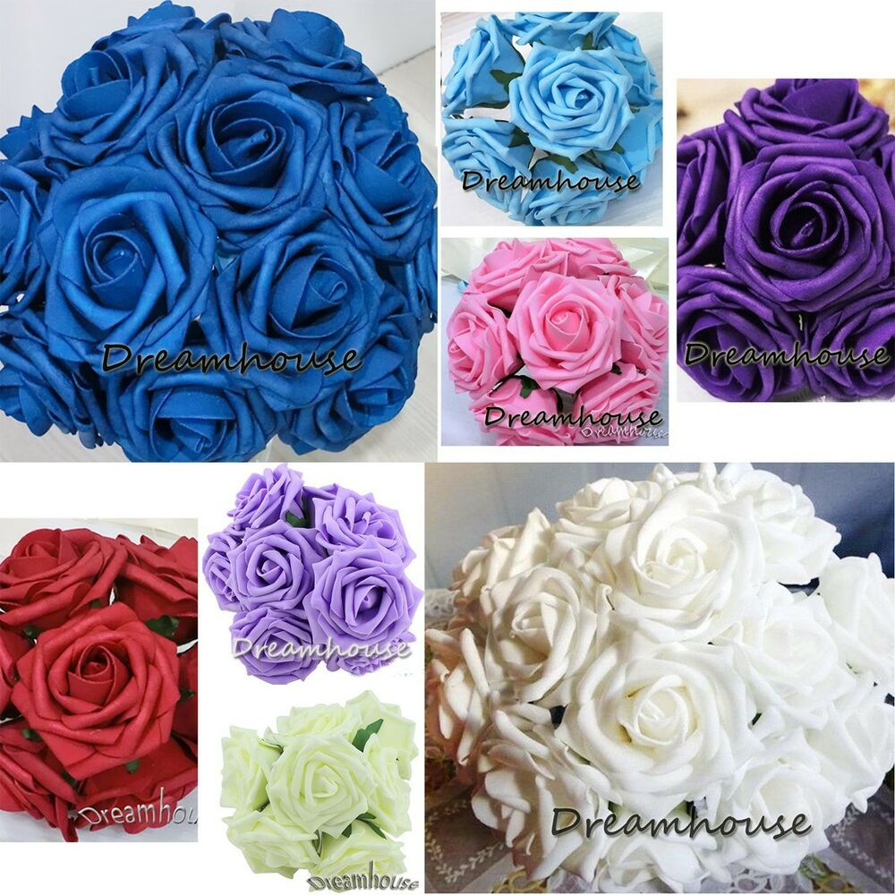 Rose Flower Wedding Table: 15 Real Touch Rose Bridal Bouquet Wedding Flower Home