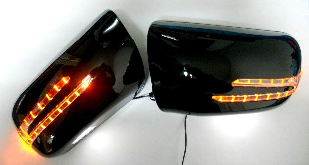 Mercedes w140 95 98 s class black arrow type led side for Mercedes benz c300 side mirror glass