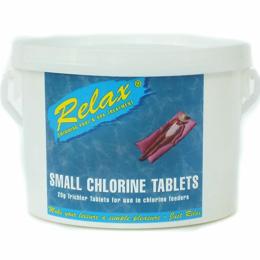 Relax small 20g chlorine tablets swimming pool chemical - How to put chlorine in swimming pool ...