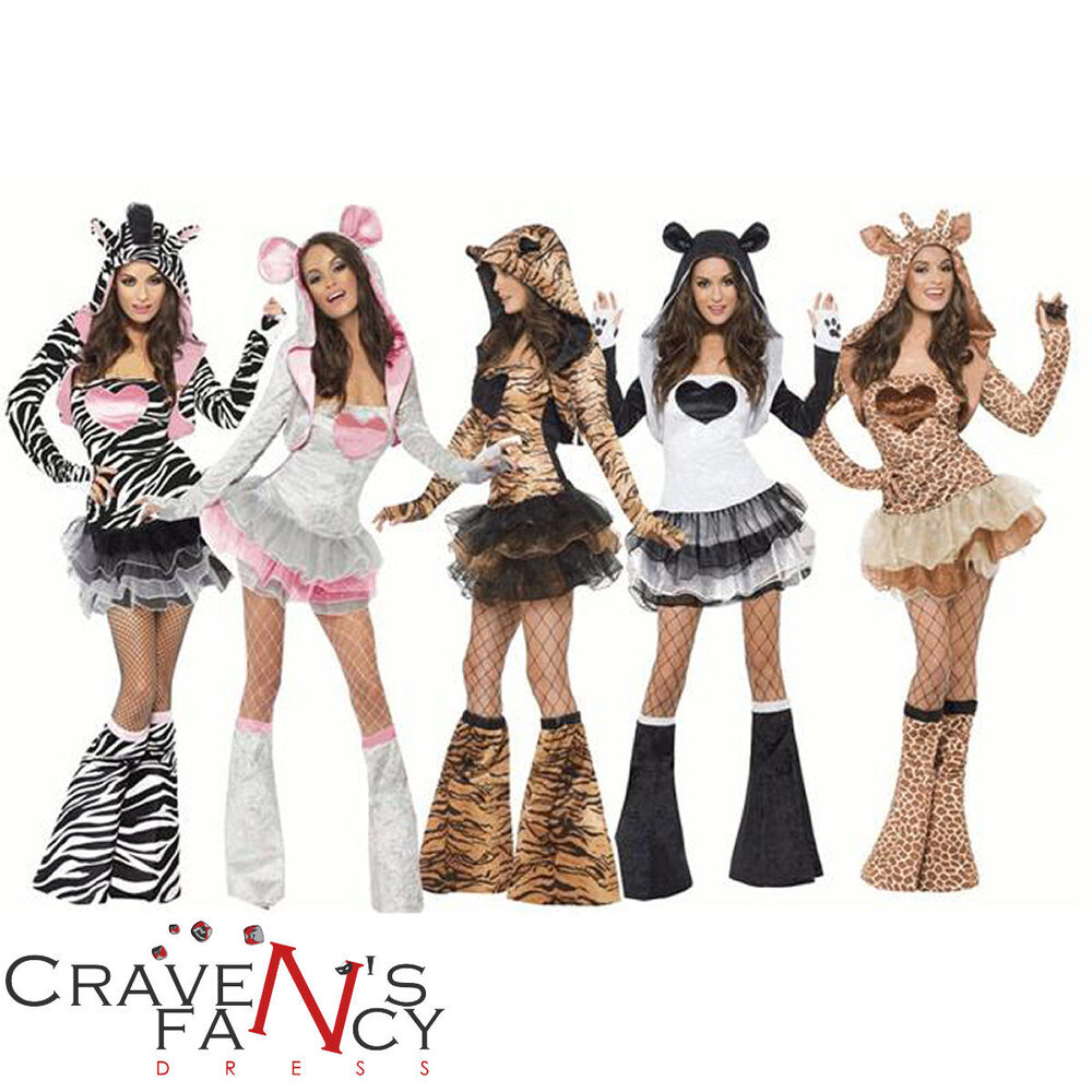 Ladies Fever Animal Fancy Dress Costume Hen Night Party