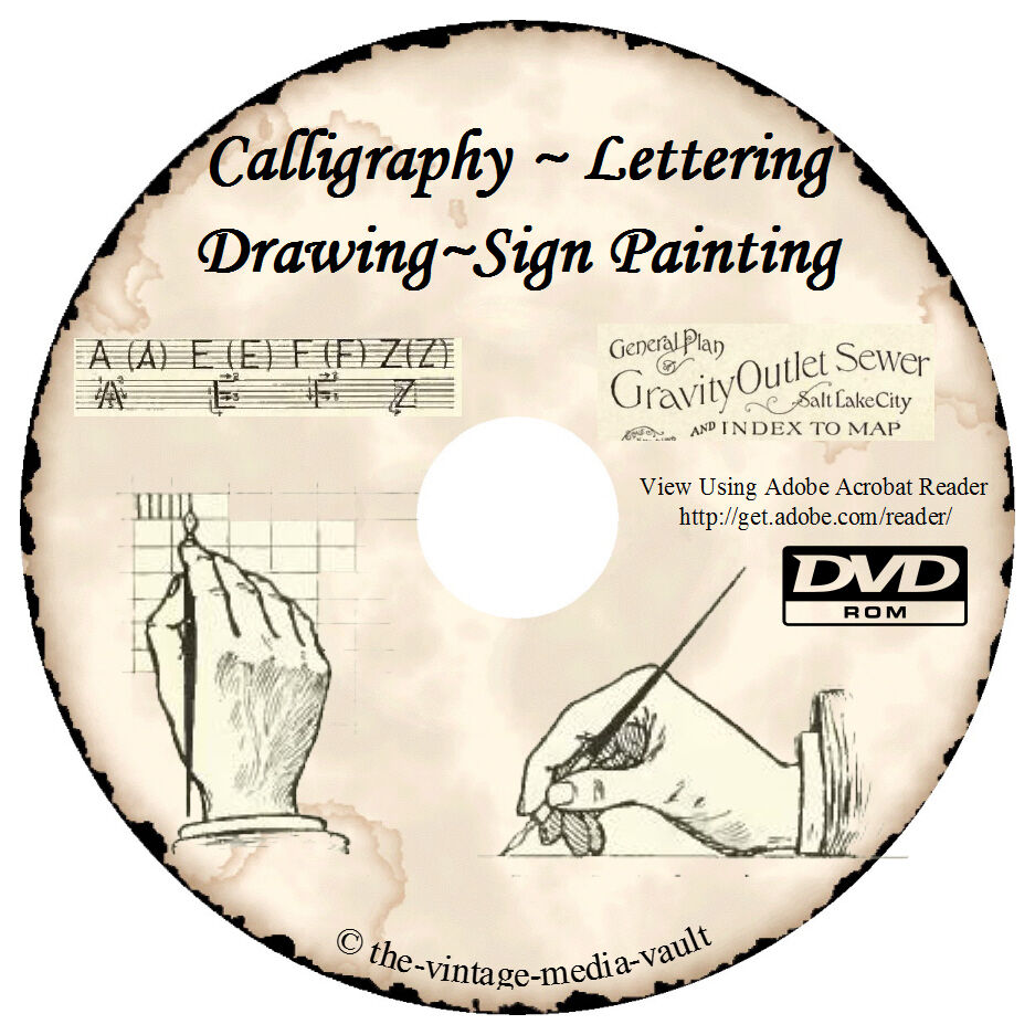 Learn how to do lettering calligraphy sign painting 50 Calligraphy books free