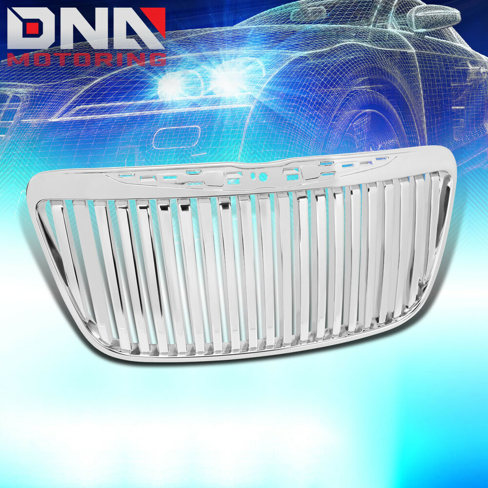 2011 2014 Chrysler 300 300c Fog Light Stainless Steel Mesh: 11-13 CHRYSLER 300/300C LUXURY FRONT HOOD BUMPER CHROME