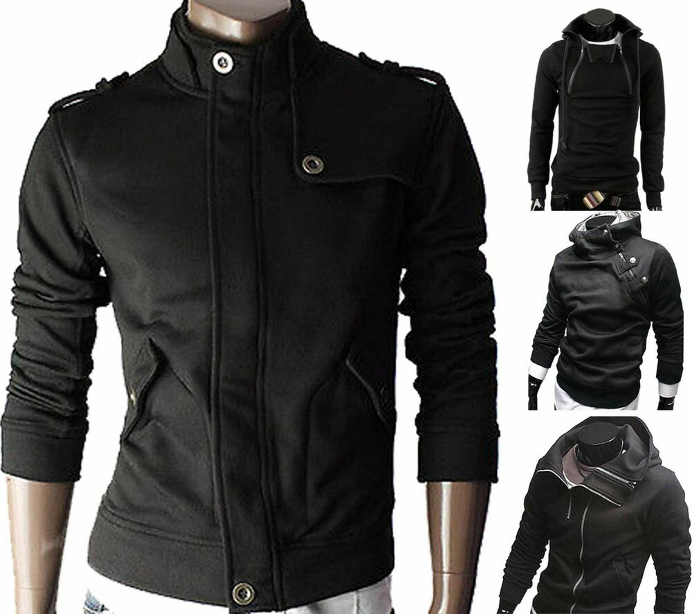men 39 s botique designer slim fit casual sweatshirt hoody. Black Bedroom Furniture Sets. Home Design Ideas