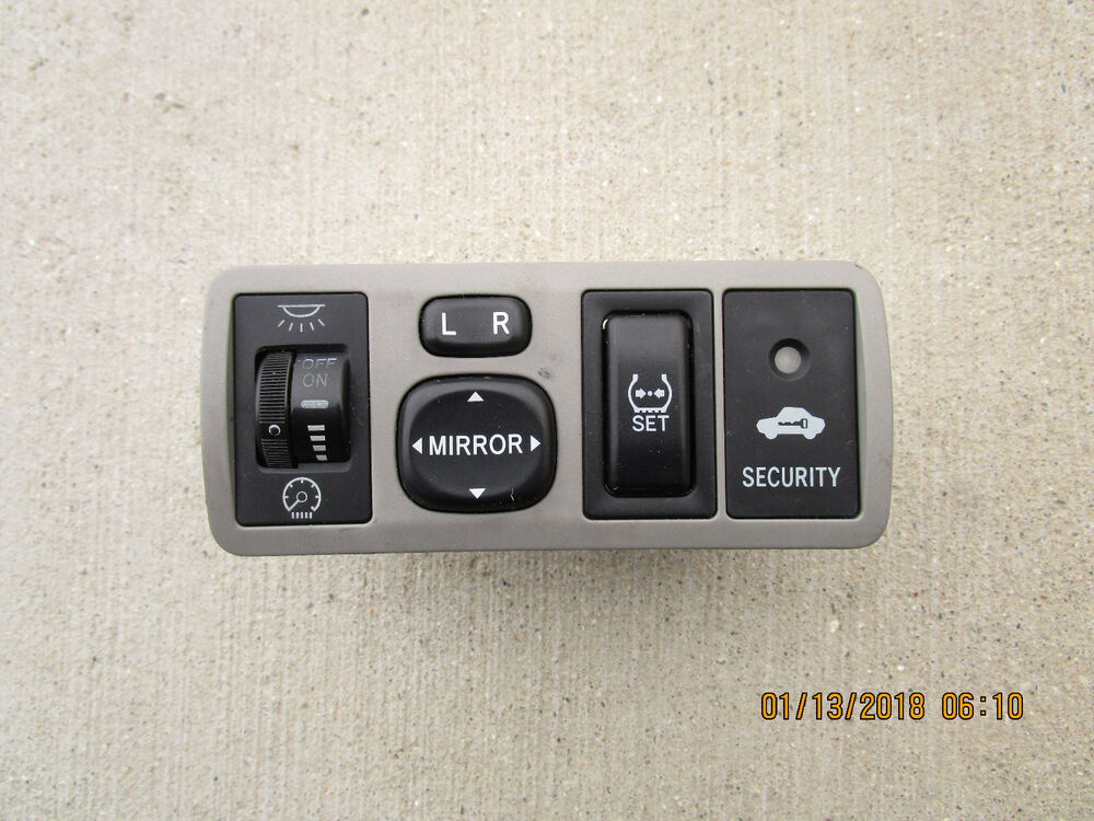 03 08 TOYOTA COROLLA CE LE S DASH LIGHT CONTROL SWITCH