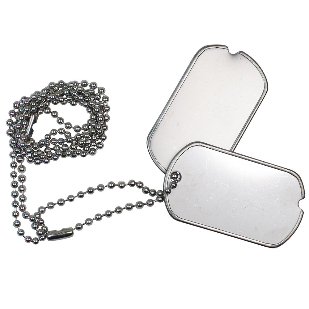 US Army GI DOG TAGS - WW2 Repro American Military Metal ...