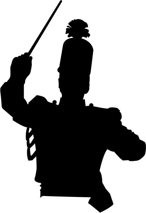 Drum major marching band car decal window sticker ebay