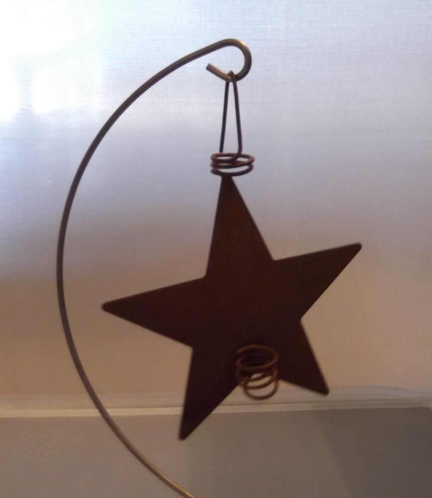 Primitive rusty tin star candle holder 4 crafts for Candle holder crafts