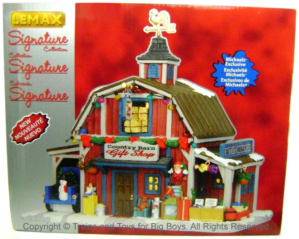 Lemax 35536 country barn gift shop exclusive christmas village