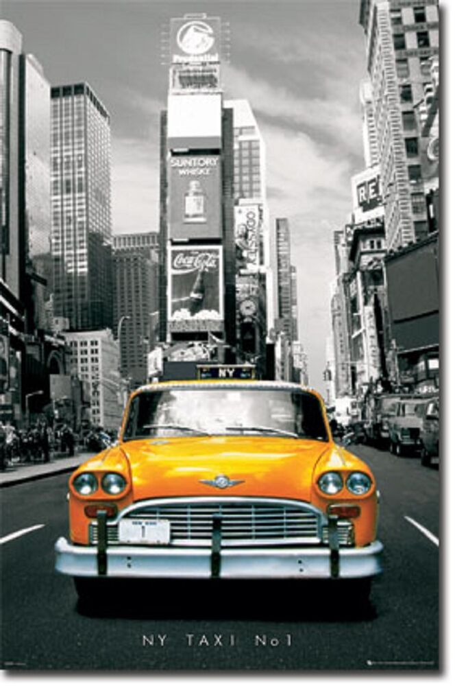 new york taxi no 1 poster art print 22x34 t0420 ebay. Black Bedroom Furniture Sets. Home Design Ideas