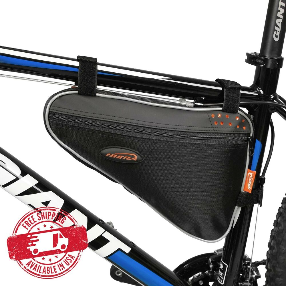 ibera bike triangle frame bag front top tube cycling under seat pouch ib fb1 m ebay