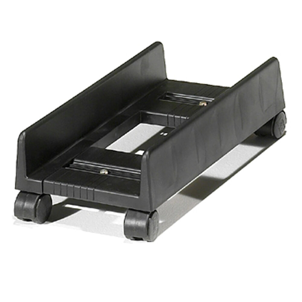 Slim Desktop Cpu Stand Holder Computer Tower Case Cart