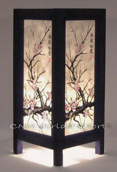 Asian Oriental Table Desk Home Decor Lamp Light Sakura