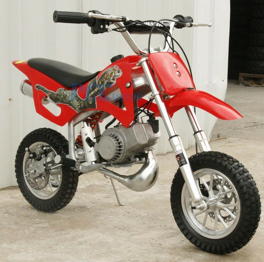 free shipping kids 49cc 2 stroke motor mini bike dirt pocket bike red v db49a ebay. Black Bedroom Furniture Sets. Home Design Ideas