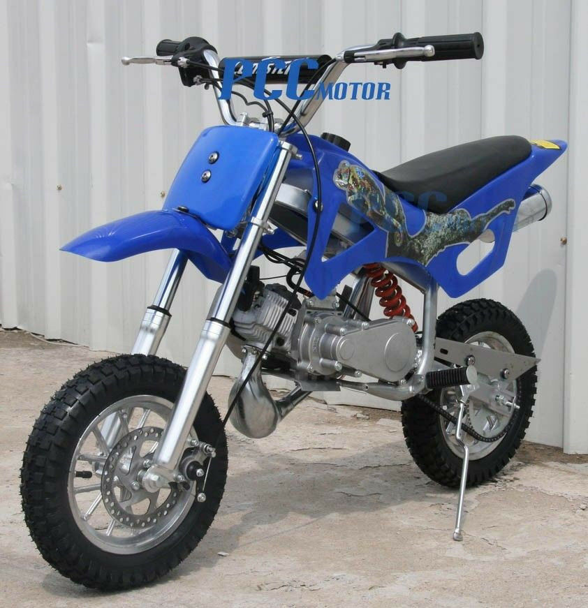 free shipping kids 49cc 2 stroke gas motor mini bike pocket bike blue v db49a ebay. Black Bedroom Furniture Sets. Home Design Ideas