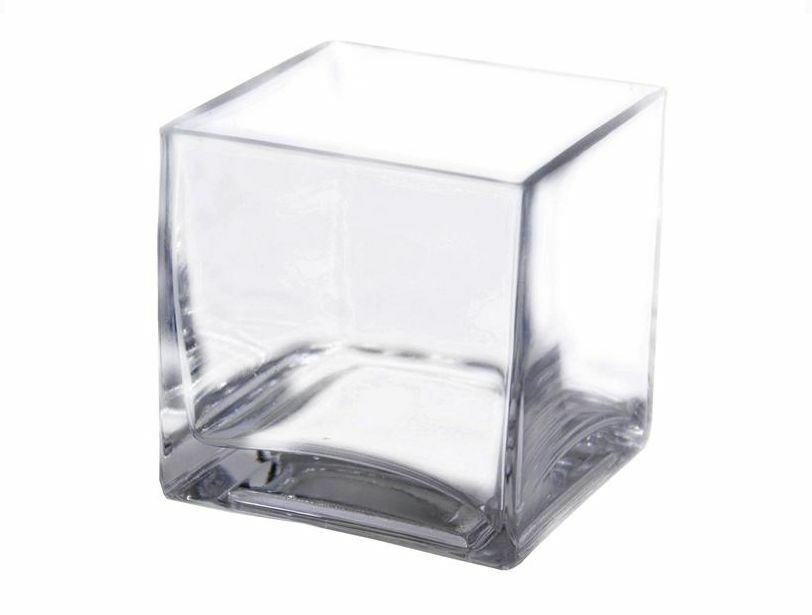Pcs quot square clear glass vases wedding centerpieces
