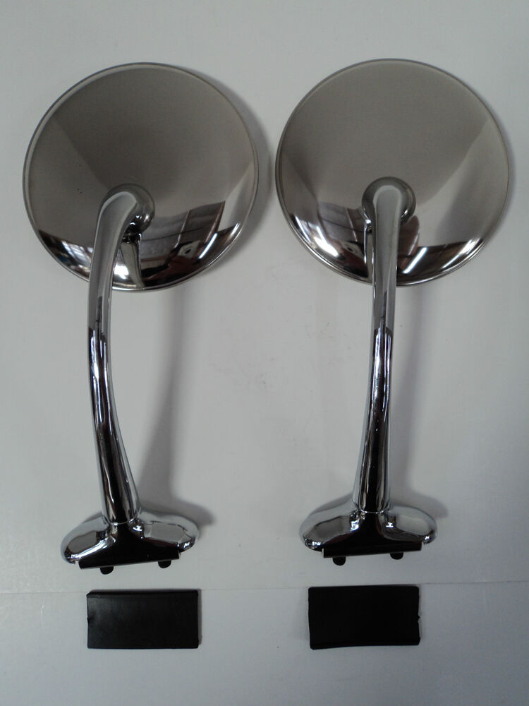 4 Quot Long Arm Stainless Pair Universal Peep Mirrors Door