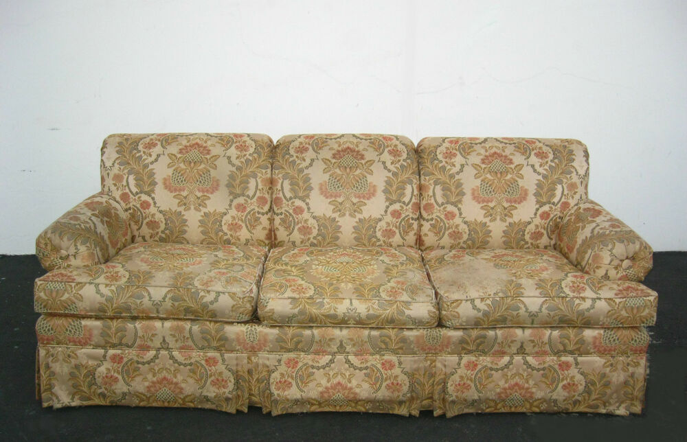 Mid Century Floral Ethan Allen SOFA / Couch With Floral