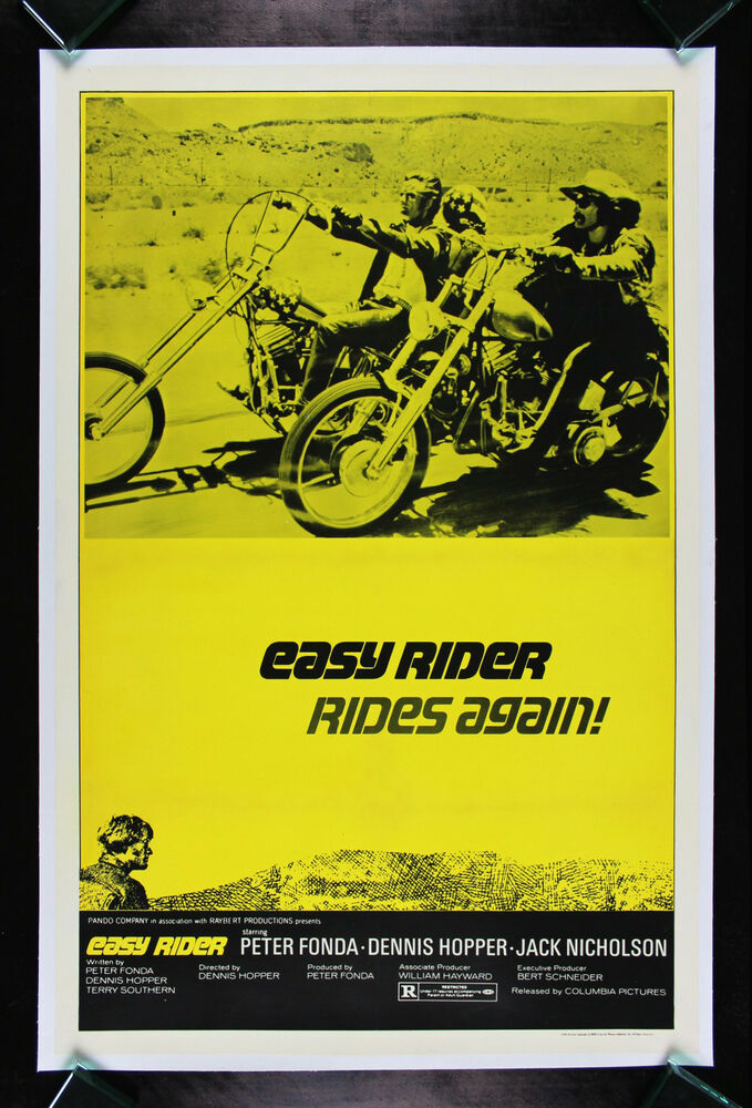 EASY RIDER * CineMasterpieces RARE 1972R BIKER ORIGINAL MOVIE POSTER ... Easy Rider Movie Poster