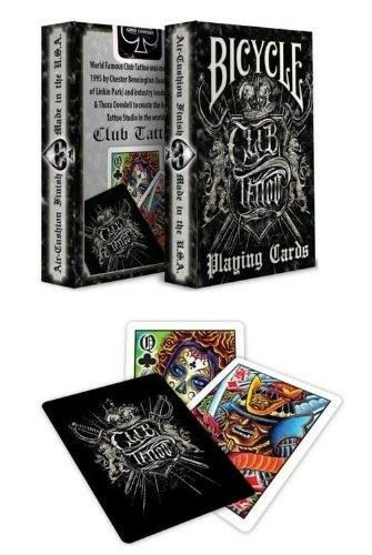 Bicycle club tattoo deck playing cards skin art work flash for Bicycle club tattoo deck