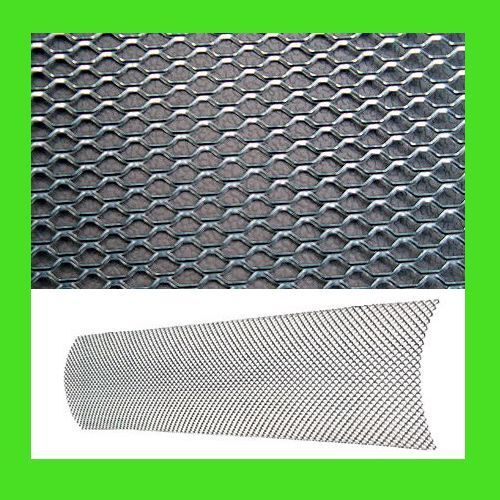 new universal aluminum car mesh grill kit 6x36 silver. Black Bedroom Furniture Sets. Home Design Ideas
