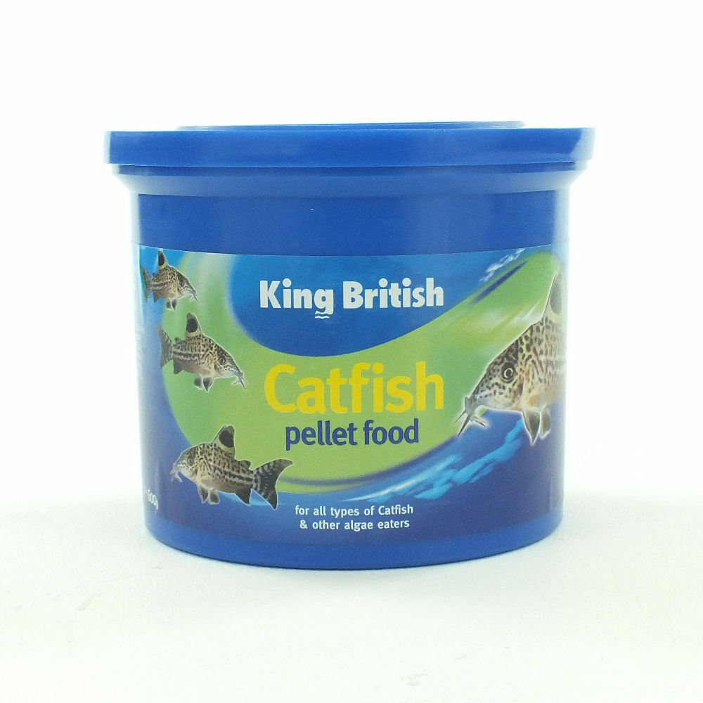 King british tropical catfish pellets aquarium fish food for Fish food pellets