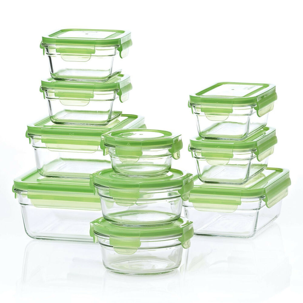 Glasslock Airtight Leak Proof Glass Food Storage Containers 20 Piece Set Ebay
