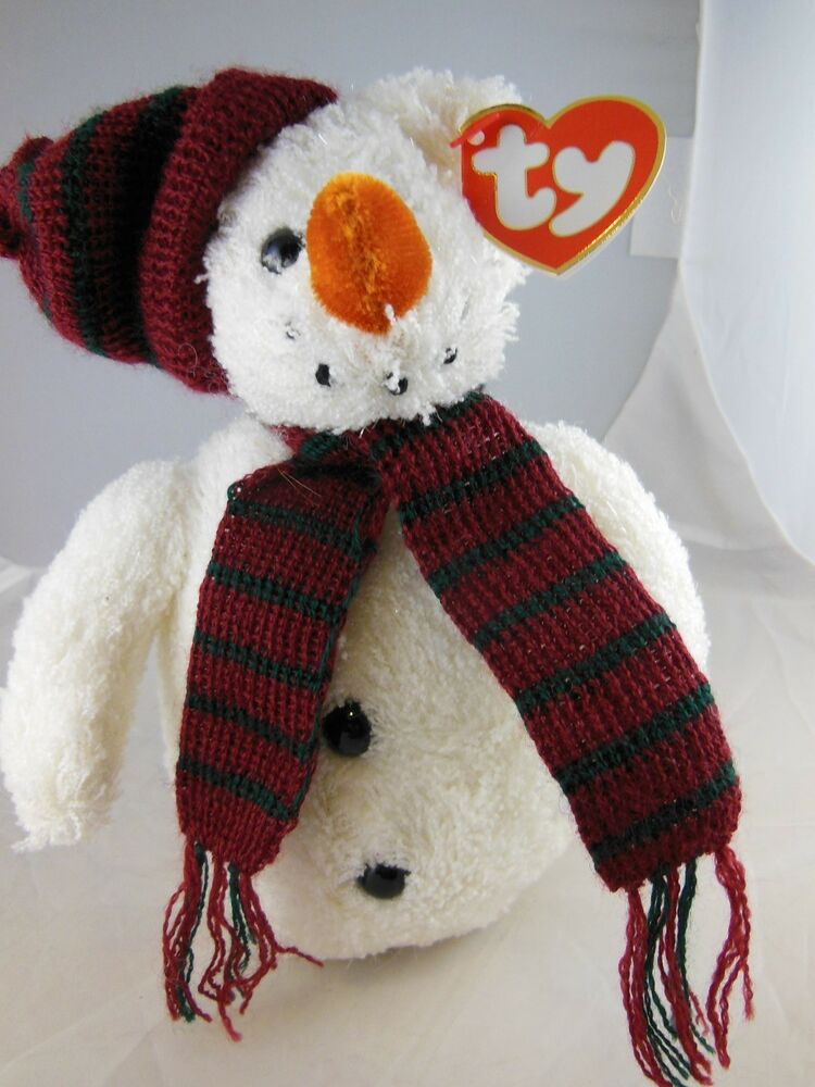 Awesome 8 Quot Ty Beanie Babies Christmas Snow Man Mwt 2000 Ebay