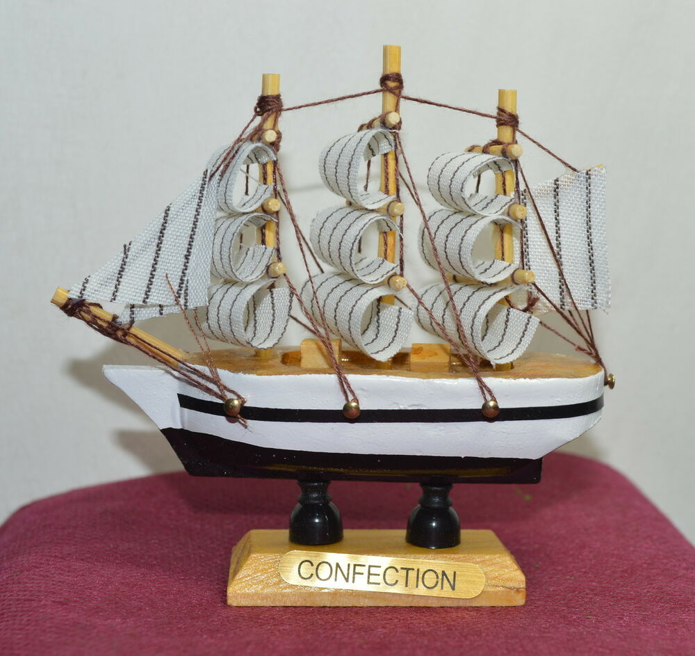 4x new vintage nautical wooden wood ship sailboat boat for Decoration yacht