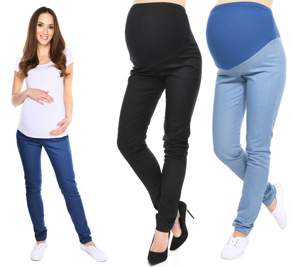 H&M Mama Over bump maternity jeans - mock fly - 3 front pockets - 2 back pockets 32