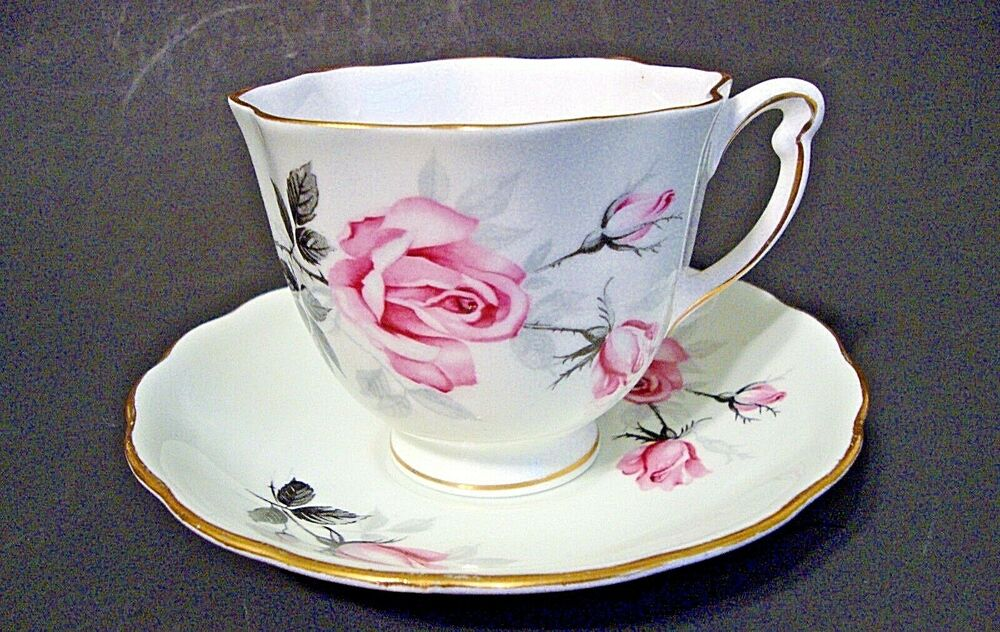 colclough bone china tea cup saucer made in england ebay. Black Bedroom Furniture Sets. Home Design Ideas