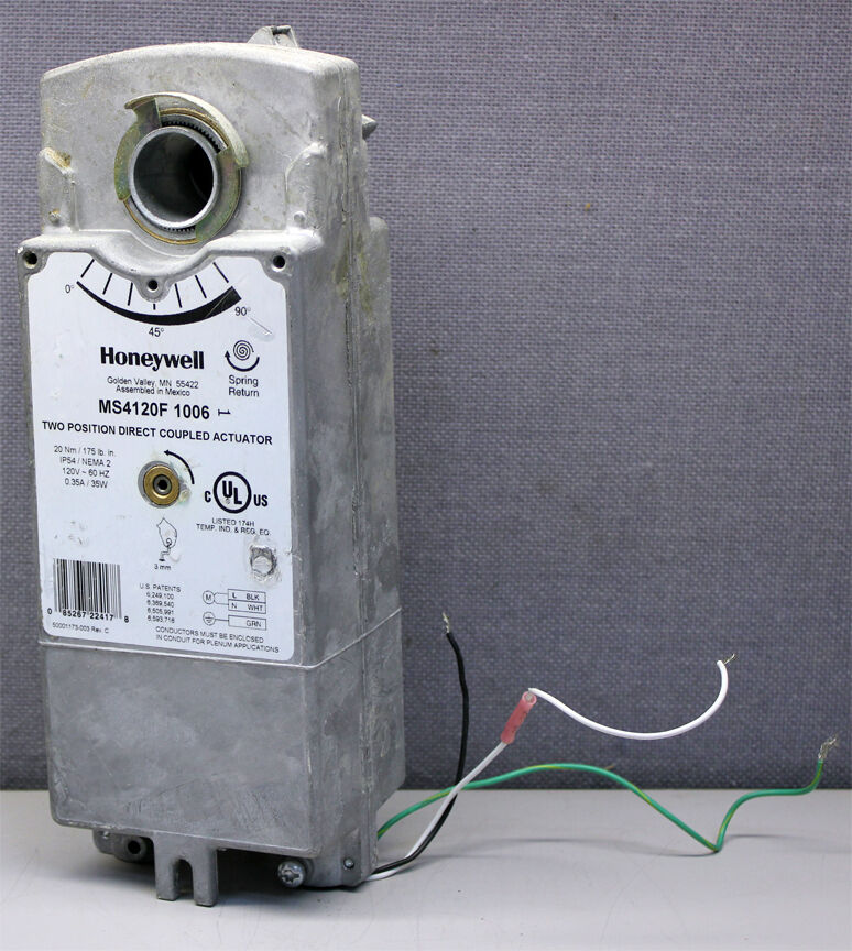 Honeywell Ms4120f1006 Two Position Direct Coupled Damper