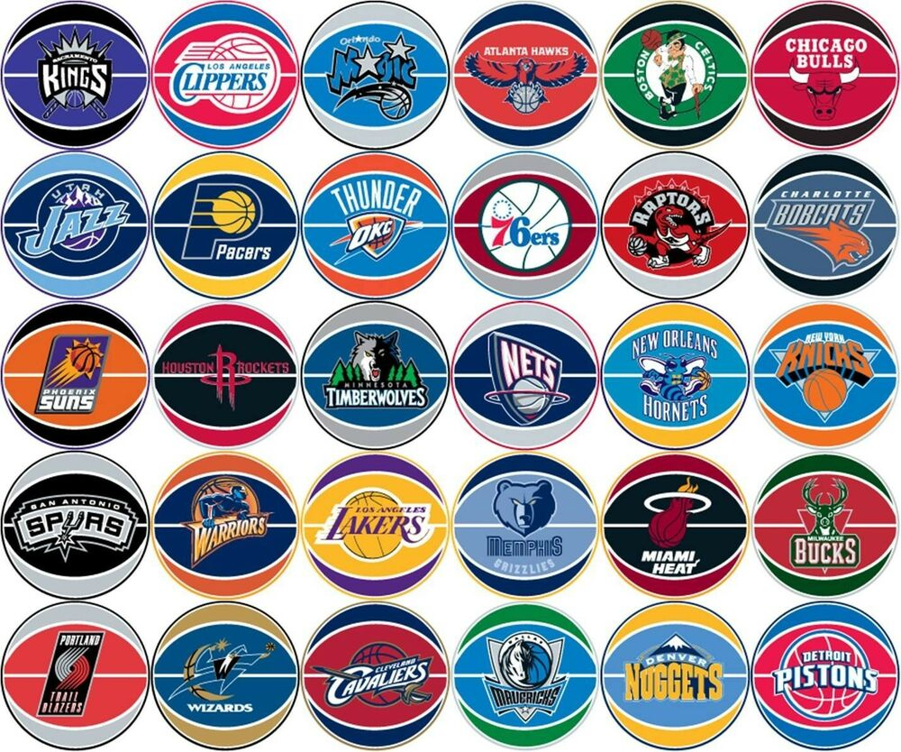 Nba Teams: NBA Prismatic Stickers Gumball Stickers Your Choice Of