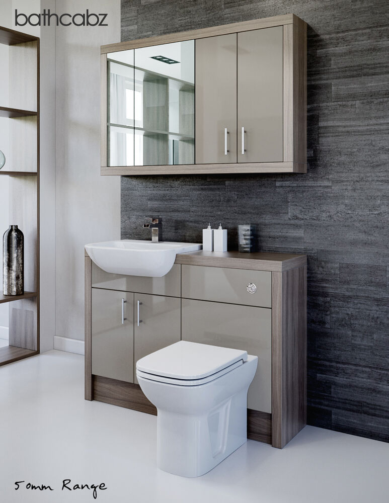 latte driftwood bathroom fitted furniture 1200mm with. Black Bedroom Furniture Sets. Home Design Ideas