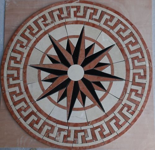 Floor Marble Travertine Tile Medallion Design Stone 34