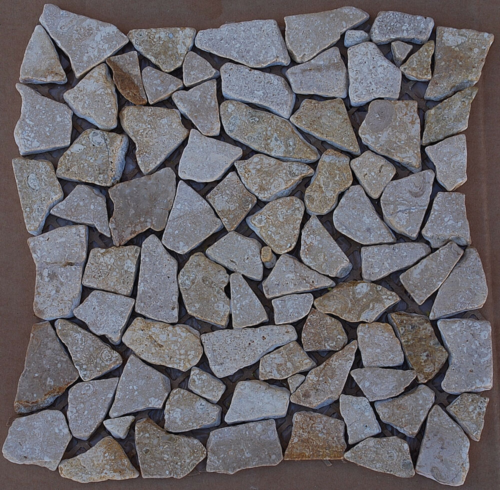 Mosaic River Style PEBBLES For Floor Pearl Color 10sf #703