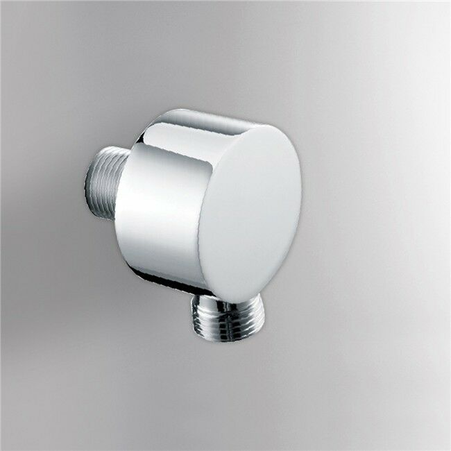 bath brass round shower head hose water connector elbow wall outlet ebay