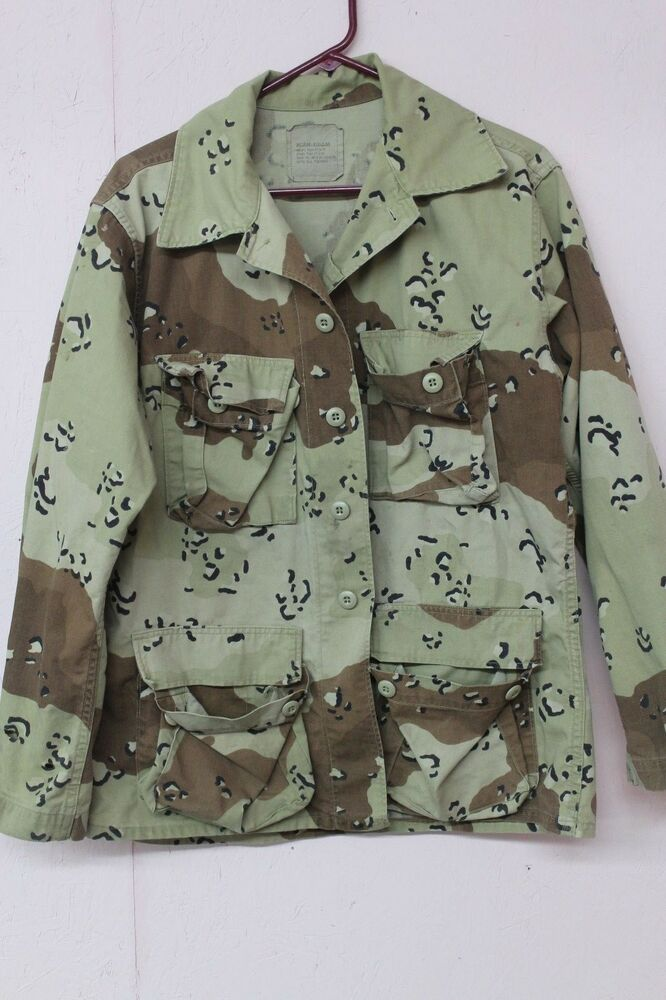 Mens Womens Army Issued Camoflouge Jacket Shirt Size