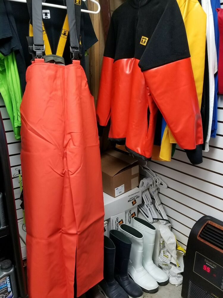 Guy cotten pab pacific bib trousers commercial foul for Foul weather fishing gear